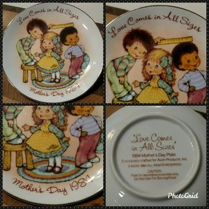 "🌼1984 Avon ""Love in All Sizes"" Mother's Day Plate"